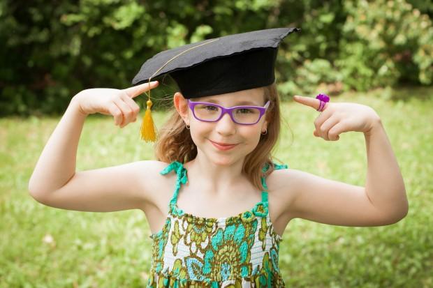 evie's kindergarten graduation